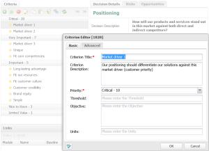 Positioning-criteria